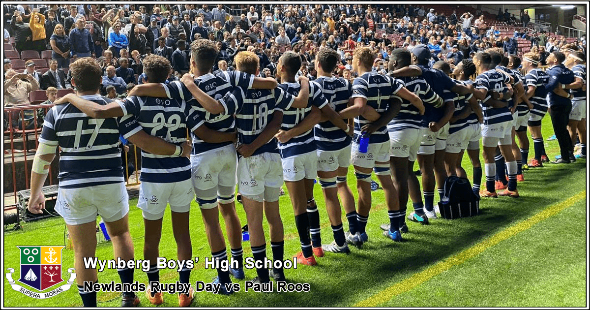 WBHS Rugby 1st team at Newlands Rugby Day 2020