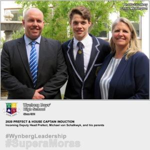 Deputy Head Prefect for 2020, Michael van Schalkwyk with his parents