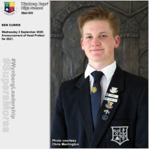Ben Currie, Head Prefect 2021