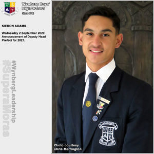 Kieron Adams, Deputy Head Prefect 2021