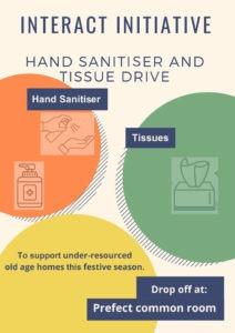 Sanitiser & Tissue service drive