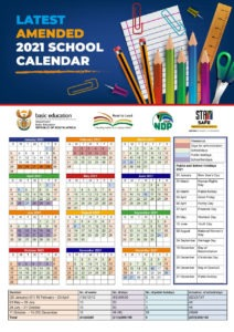 Department of Basic Education's updated 2021 School Calendar