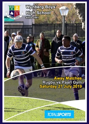 WBHS Rugby, away vs Paarl Gym, July 2019